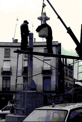 Cruz Término Binéfar_Colocación_27-11-1997-xxx